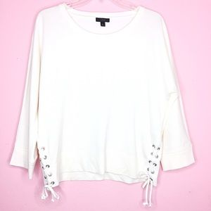J. Crew Lace Up Sweatshirt